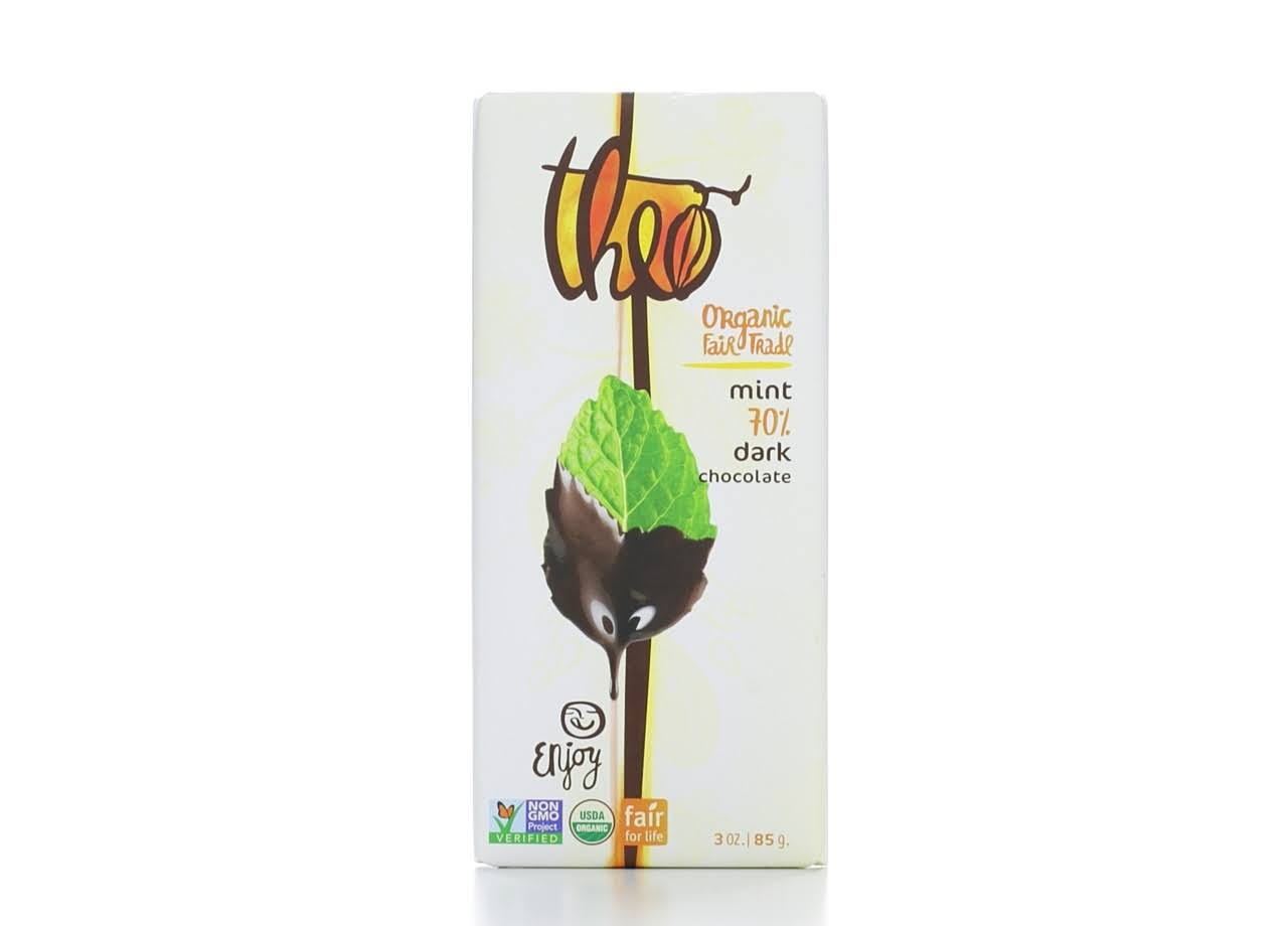 Theo Organic Fair Trade Dark Chocolate - Mint