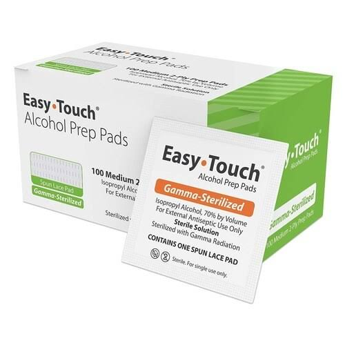 Easy Touch Alcohol Prep Pads - 100 Pack