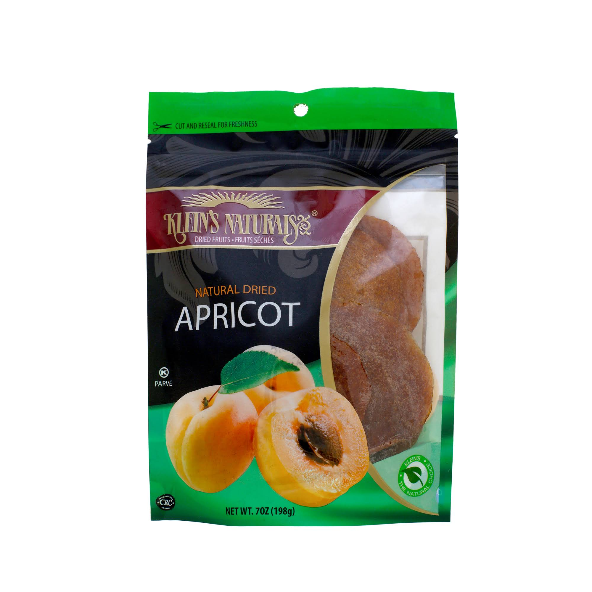 Klein's Naturals Natural Dried Apricot - 7oz