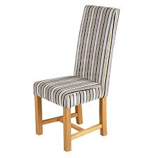 Cheap Dining Room Sets Uk by Kensington Traditional Dining Chair With Oak Legs Silver Stripes