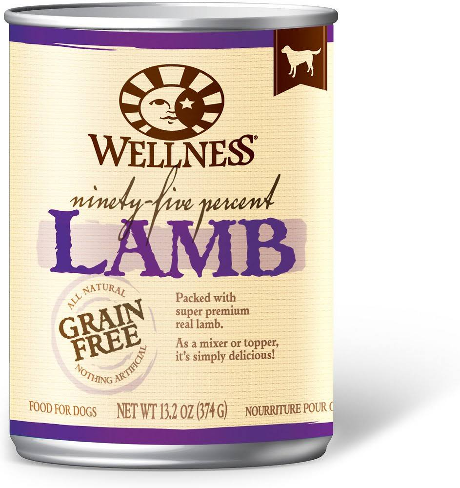 Wellness 95% Lamb Canned Dog Food - 374g