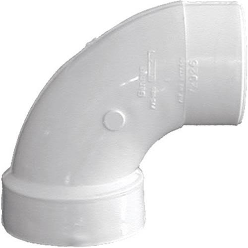 Genova Products Elbow Pipe - 90 Degrees, White
