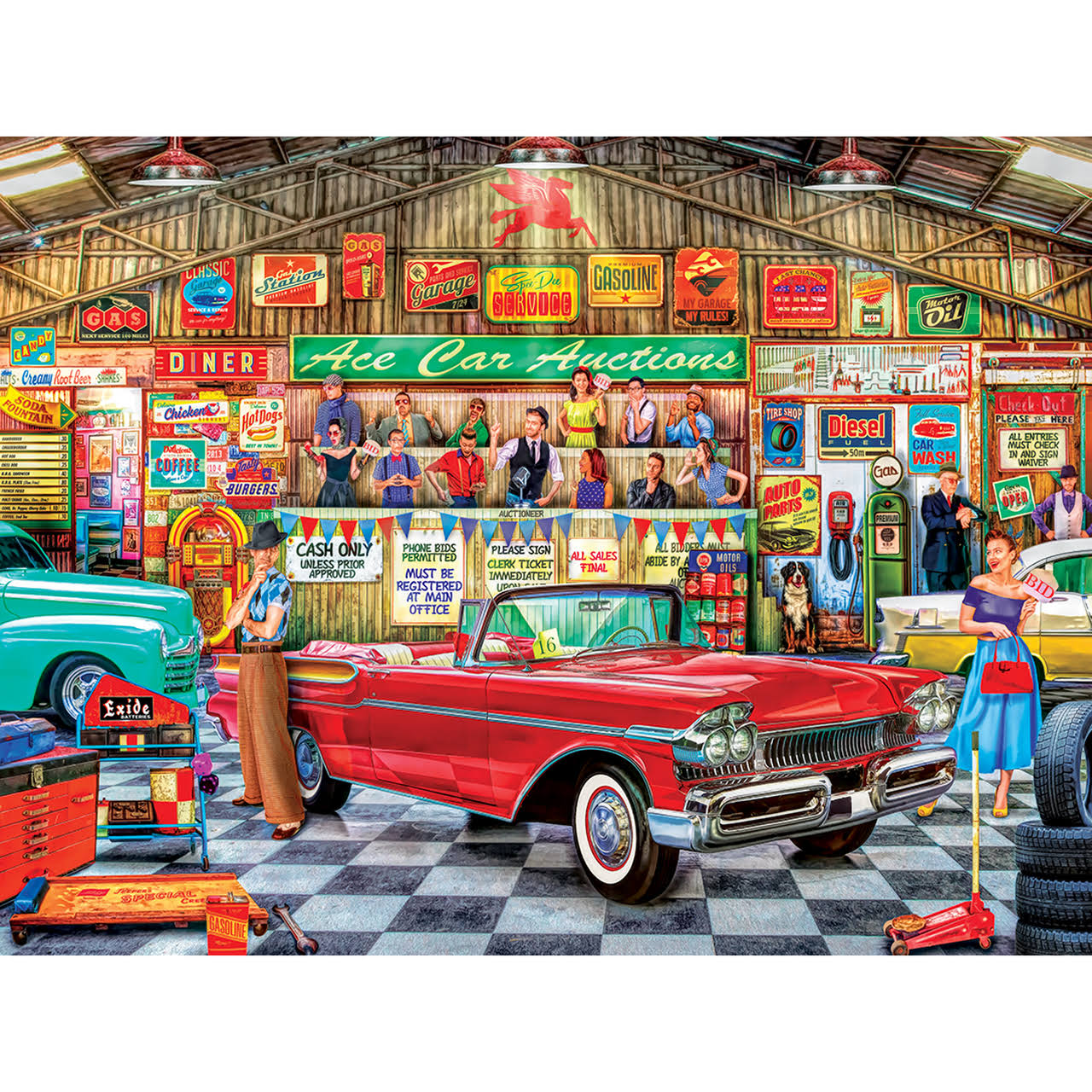 Masterpieces Wheels - The Auctioneer 750 Piece Puzzle