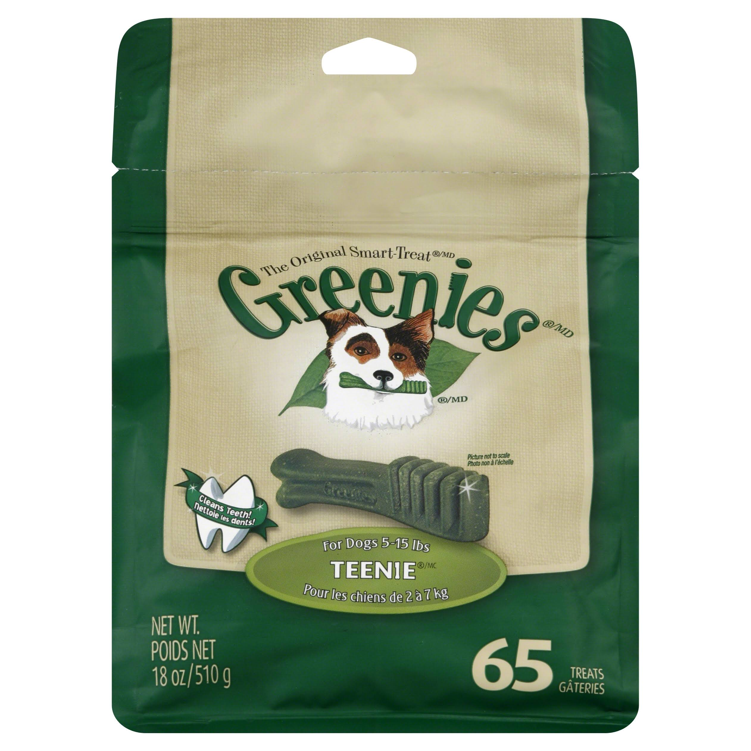 Greenies Dog Dental Chew Treats - Teenie, 18oz, 65 Treats