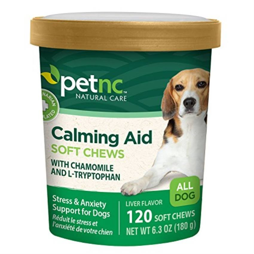 PetNC Natural Care Calming Aid Soft Chews for Dogs - 120 Count
