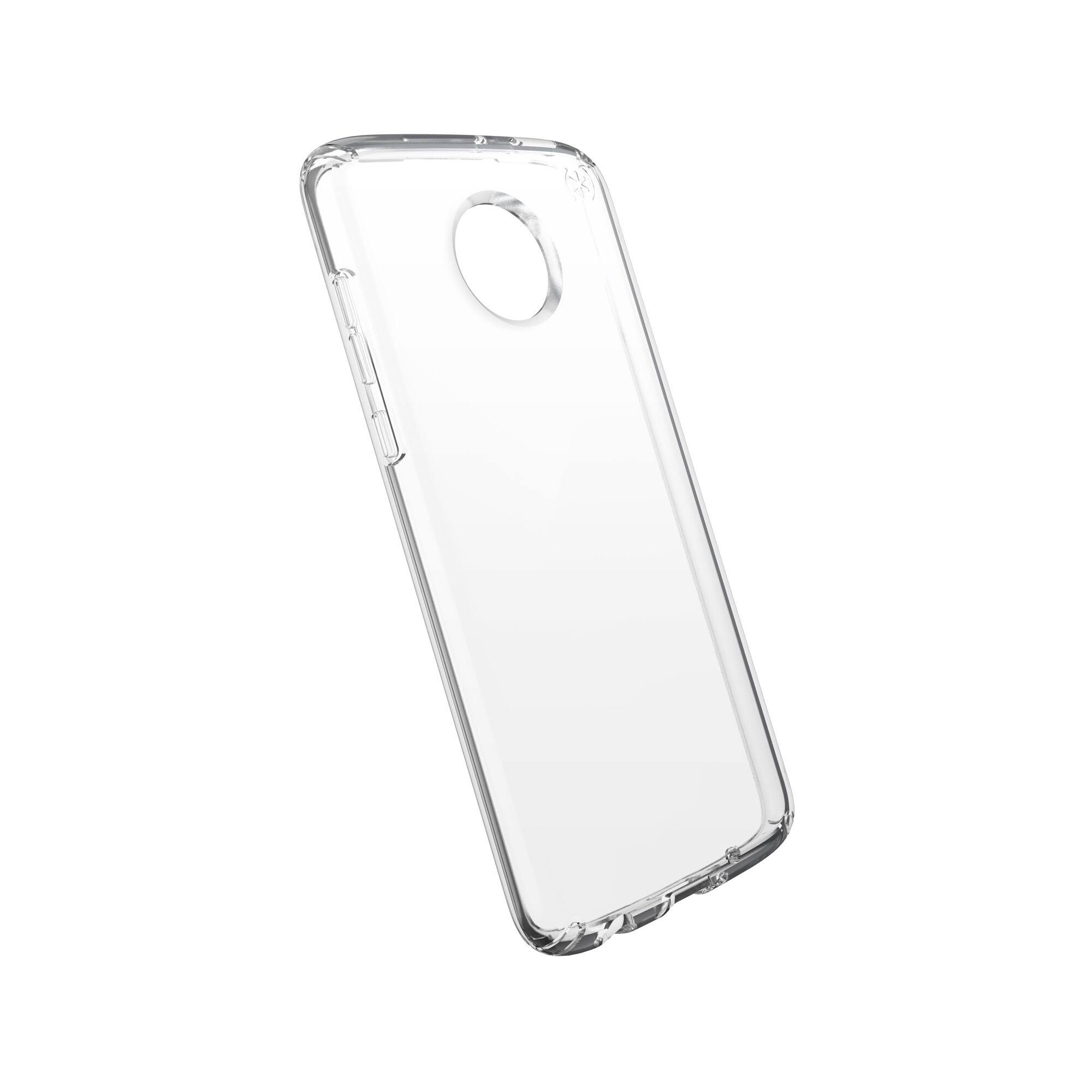Speck - Presidio Stay Clear Case for Motorola Moto Z4 - Clear