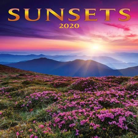 Turner Licensing Sunsets 2020 Mini Wall Calendar