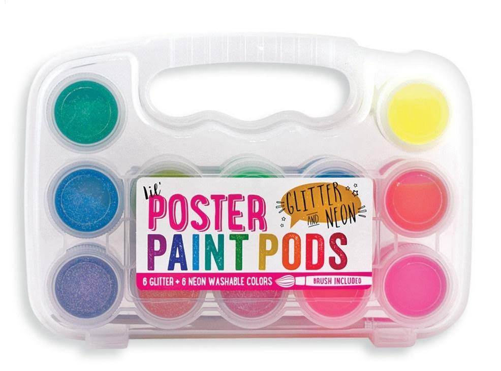 Lil Poster Paint Pods Set - Neon & Glitter, 12ct