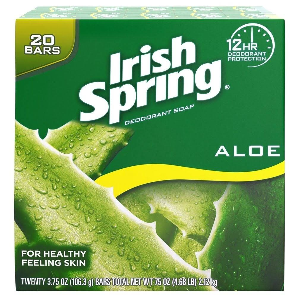 Irish Spring Aloe Bar Soap - 20ct, 74oz