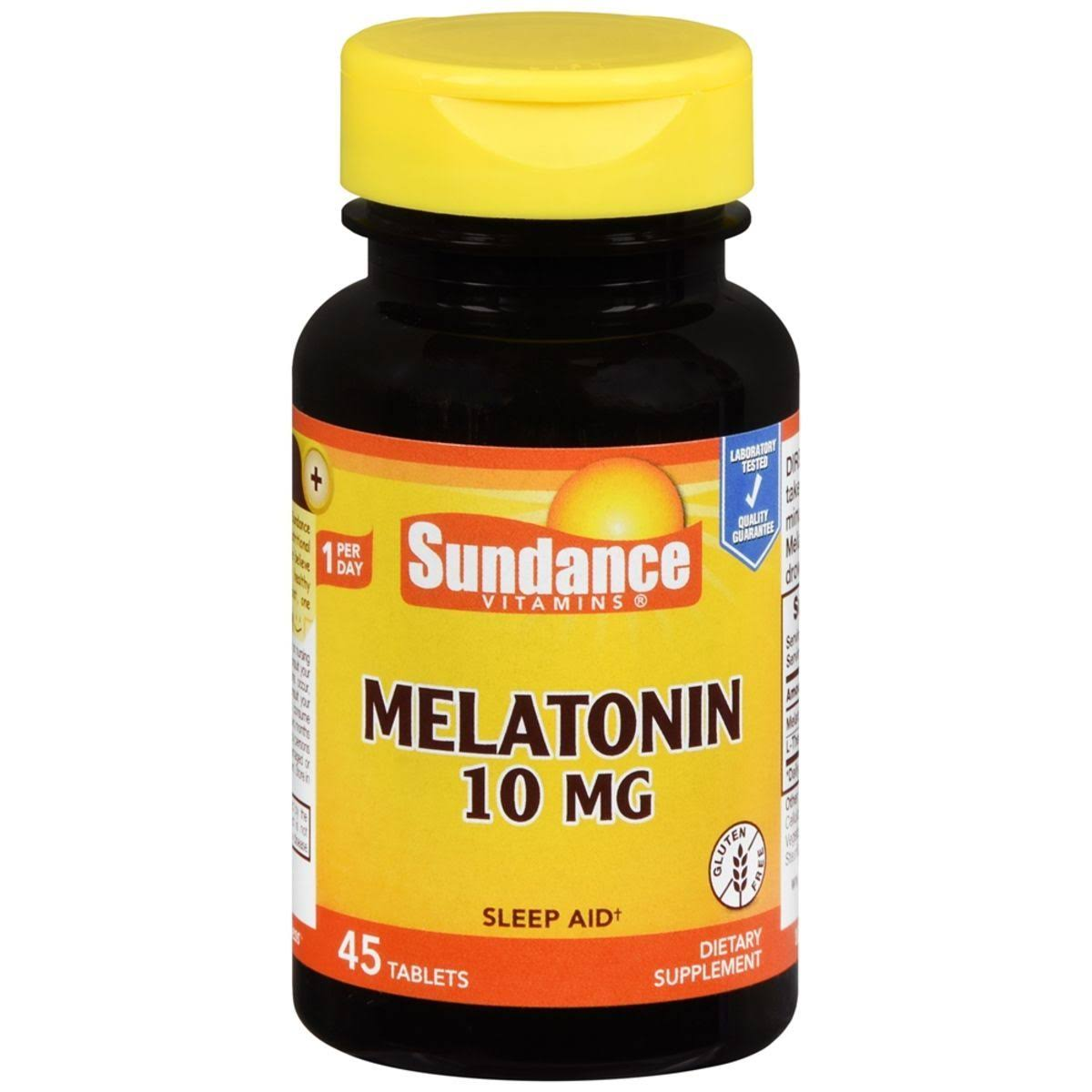 Sundance Vitamins Melatonin Sleep Aid Supplement - 10mg, 45ct