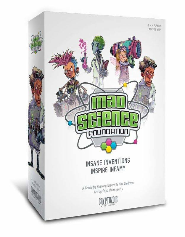 Cryptozoic Entertainment Mad Science Foundation Board Game