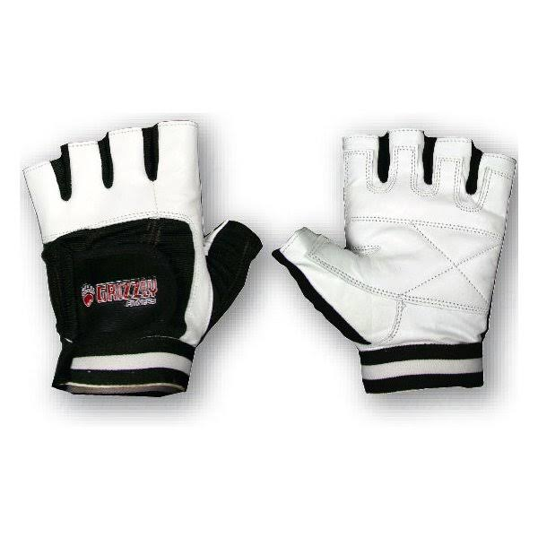 Grizzly Fitness GZ Paw Gloves White/Black Med
