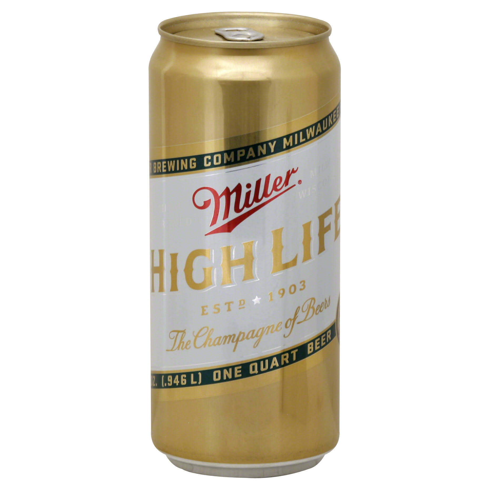 Miller High Life Beer - 32 Oz