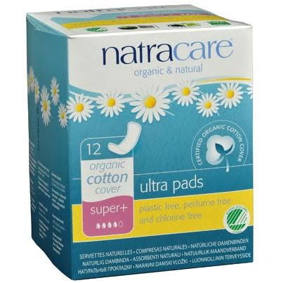 Natracare Natural Ultra Pads Organic Cotton Cover - Super Plus, x12