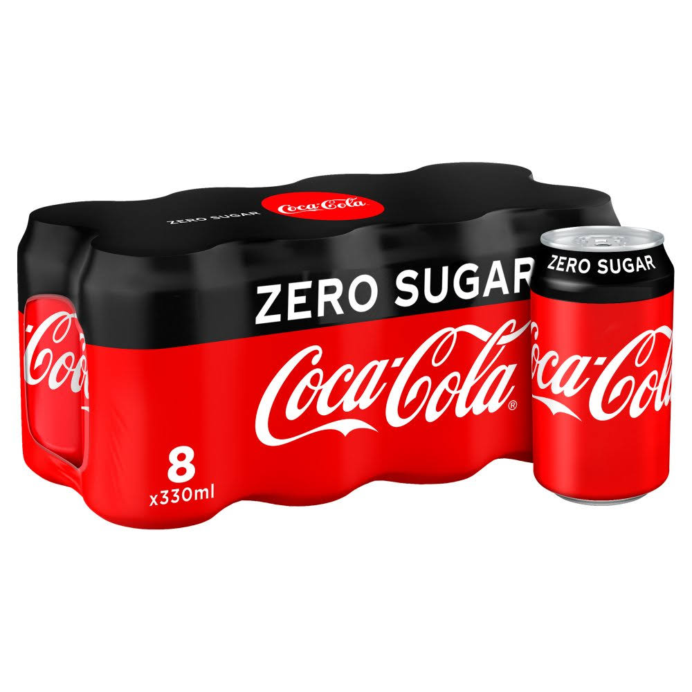 Coca-Cola Zero Sugar Soda - 8 Cans, 2.6l