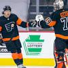 Travis Konecny records hat trick, leads Flyers past Penguins 5-2