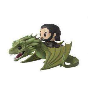 Funko Pop Rides Game of Thrones Vinyl Figure - Jon Snow with Rhaegal, 15cm