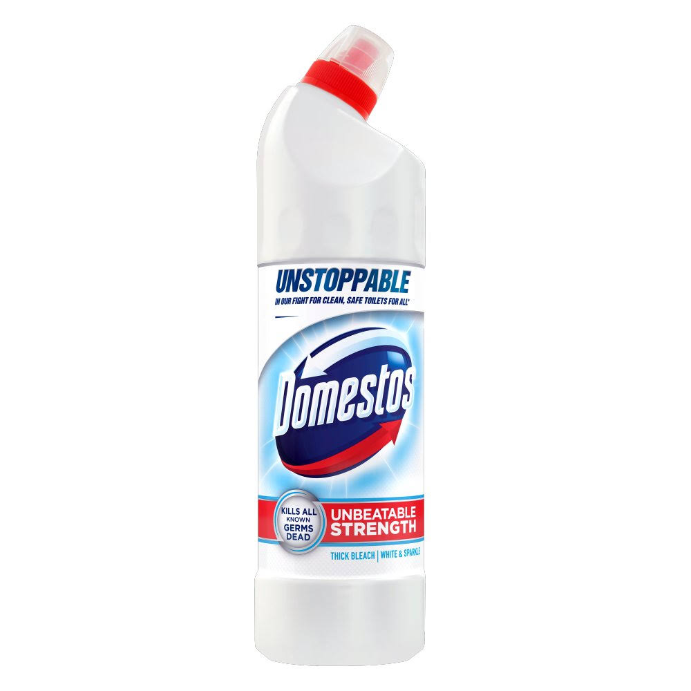 Domestos Ultra White and Sparkle Thick Bleach - 750ml