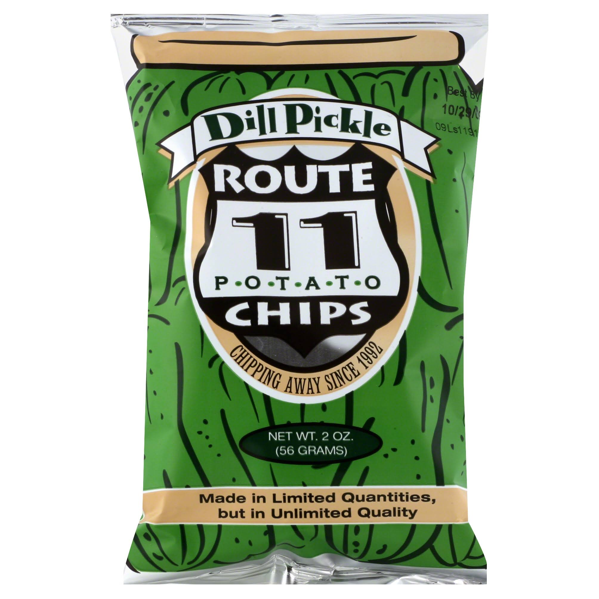 Route 11 Potato Chips - Dill Pickle, 2oz