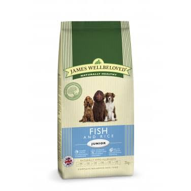 James Wellbeloved Junior Dog Food - Fish and Rice