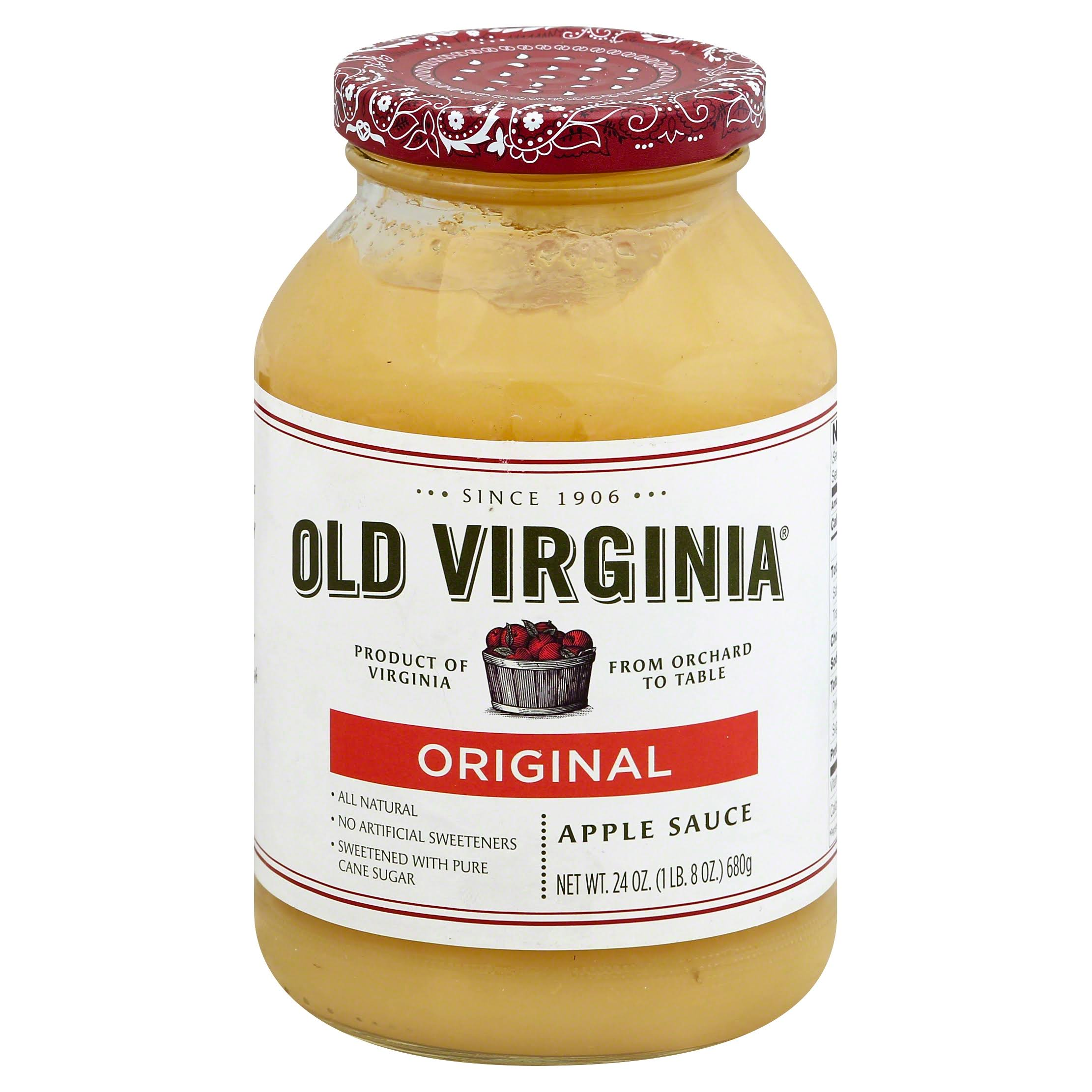 Old Virginia Original Apple Sauce - 24oz
