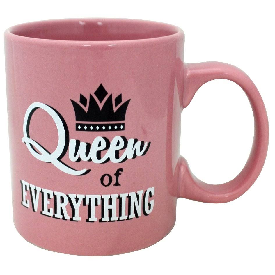 Island Dogs Queen of Everything Pink Mug - 16oz