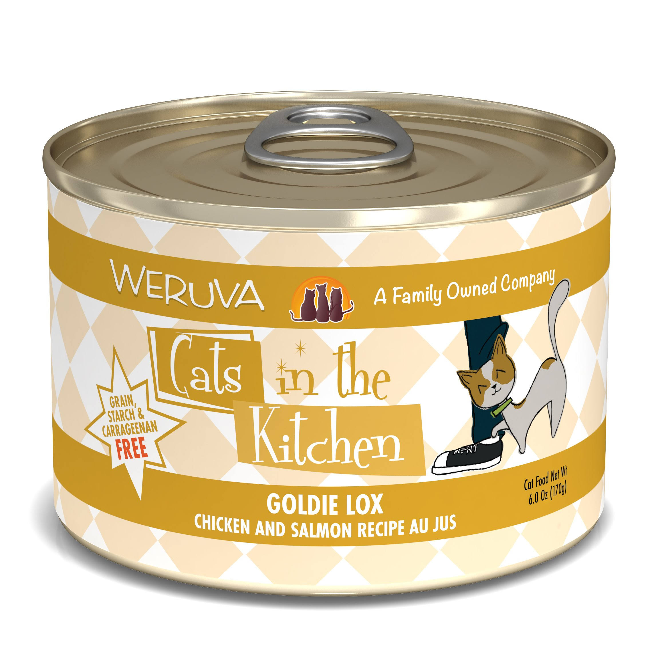Weruva Cats in the Kitchen Goldie Lox Cat Food - 24 pack, 6 oz cans