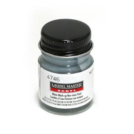 Testors Model Master Acrylic Paint Bottle - 4746 Medium Gray, 1/2oz