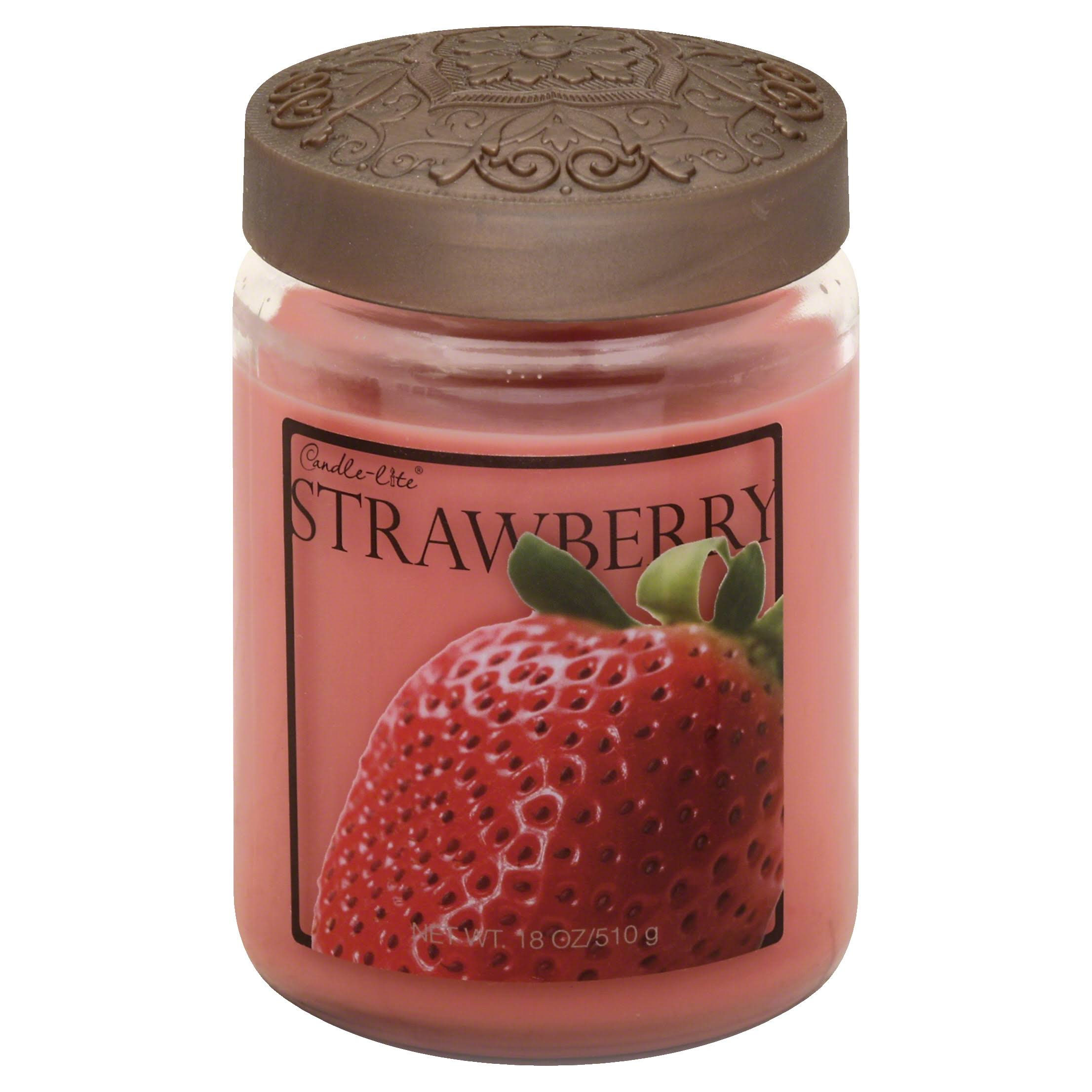 Candle Lite Candle, Strawberry - 1 candle, 18 oz
