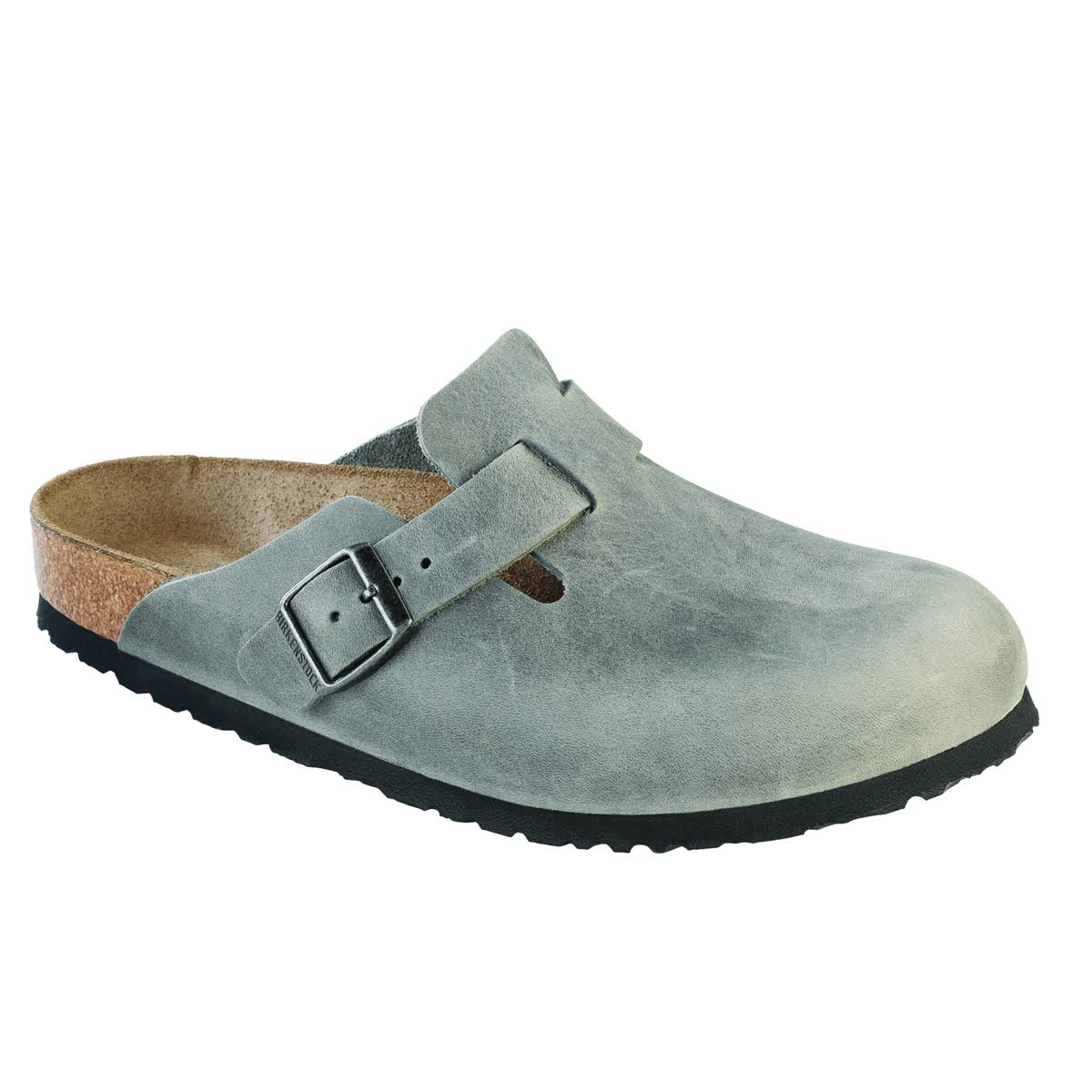 Birkenstock Boston Soft Footbed (40 Iron Oiled Leather)