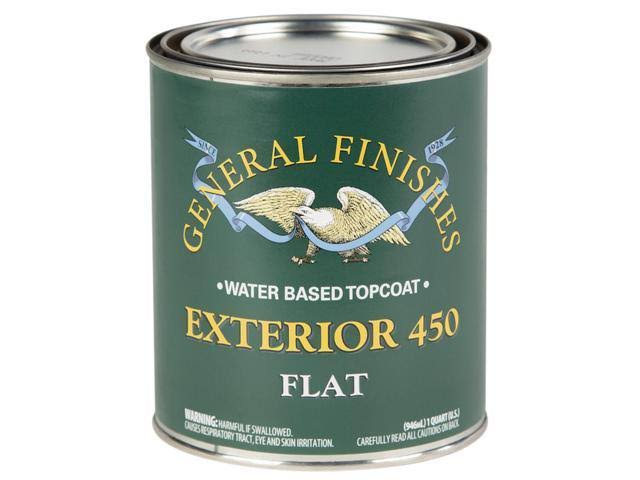 General Finishes Exterior 450 Top Coat - Flat, 1gal