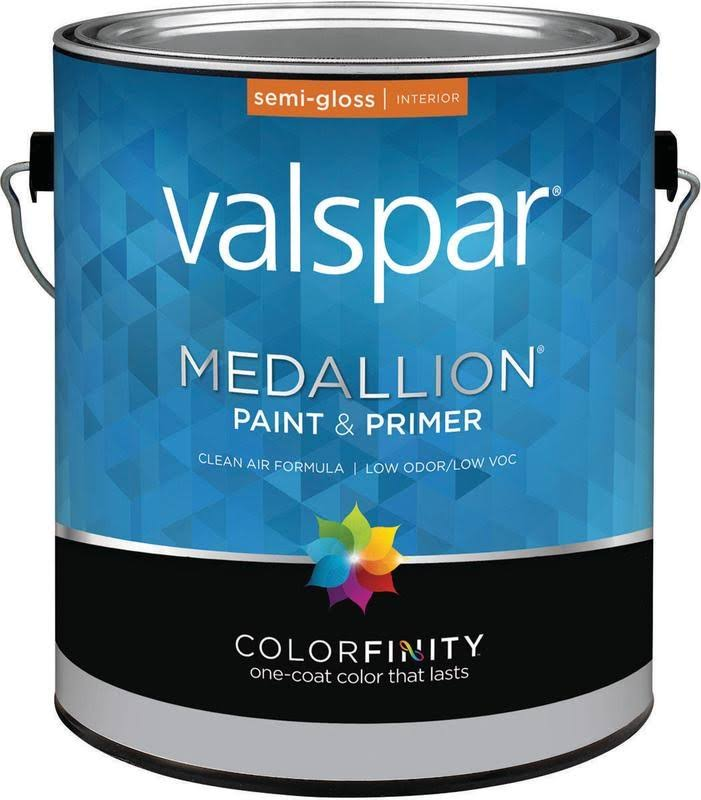 Valspar 027.0002408.007 Interior Latex Paint, Semi-Gloss, 1 Gallon