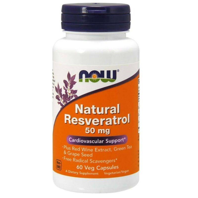 Now Natural Resveratrol Cardiovascular Support - 60 Capsules