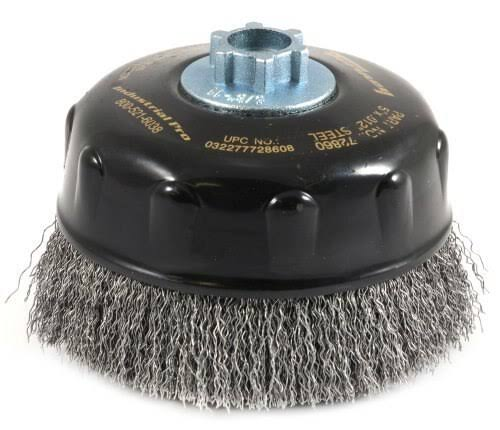 Forney 72860 Industrial Pro Crimped Wire Cup Brush - 5""
