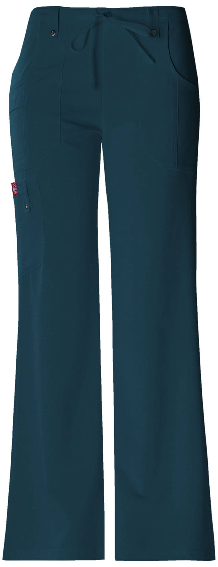Dickies Women's Xtreme Stretch Fit Drawstring Flare Leg Pant - Caribbean, Medium