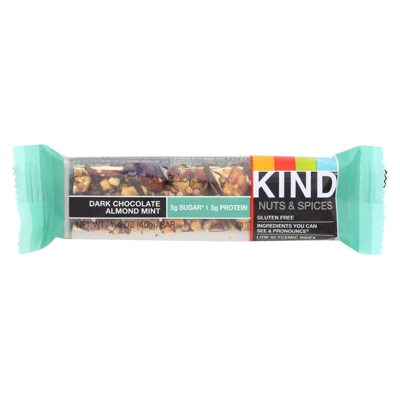 Kind Nuts and Spices Granola Bar - Dark Chocolate Almond Mint