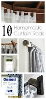 No Drill Window Curtain Rod by Best 20 Homemade Curtain Rods Ideas On Pinterest Cheap Wooden