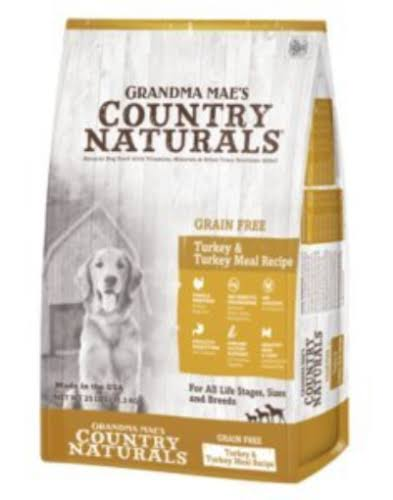 Grandma Maes Country 46000701 Naturals Limited Ingredient Grain Free Turkey Dog Food - 4 lbs