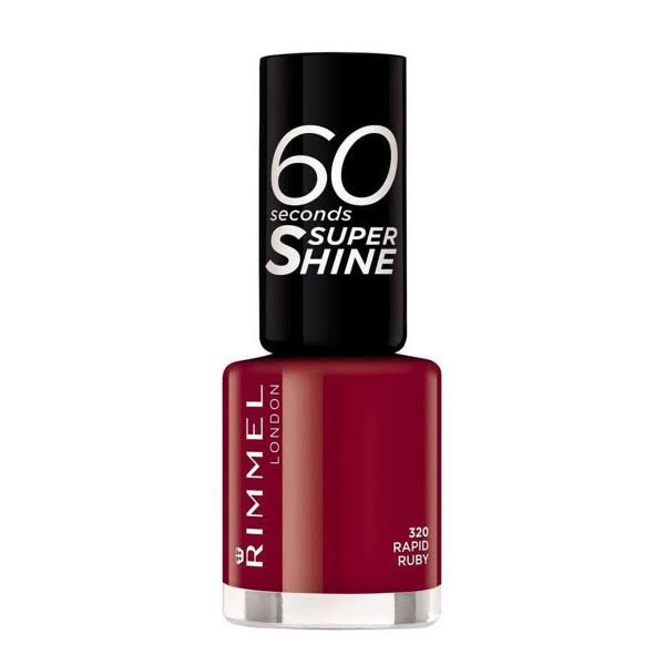 Rimmel London 60 Seconds Super Shine Nail Polish - 320 Rapid Ruby, 8ml