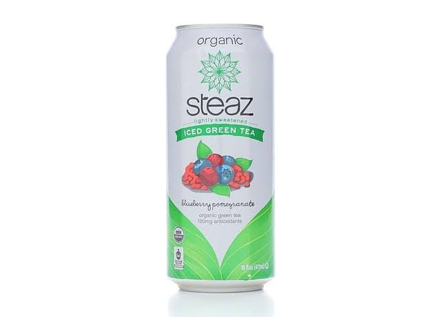 Steaz Iced Green Tea Organic - Blueberry Pomegranate