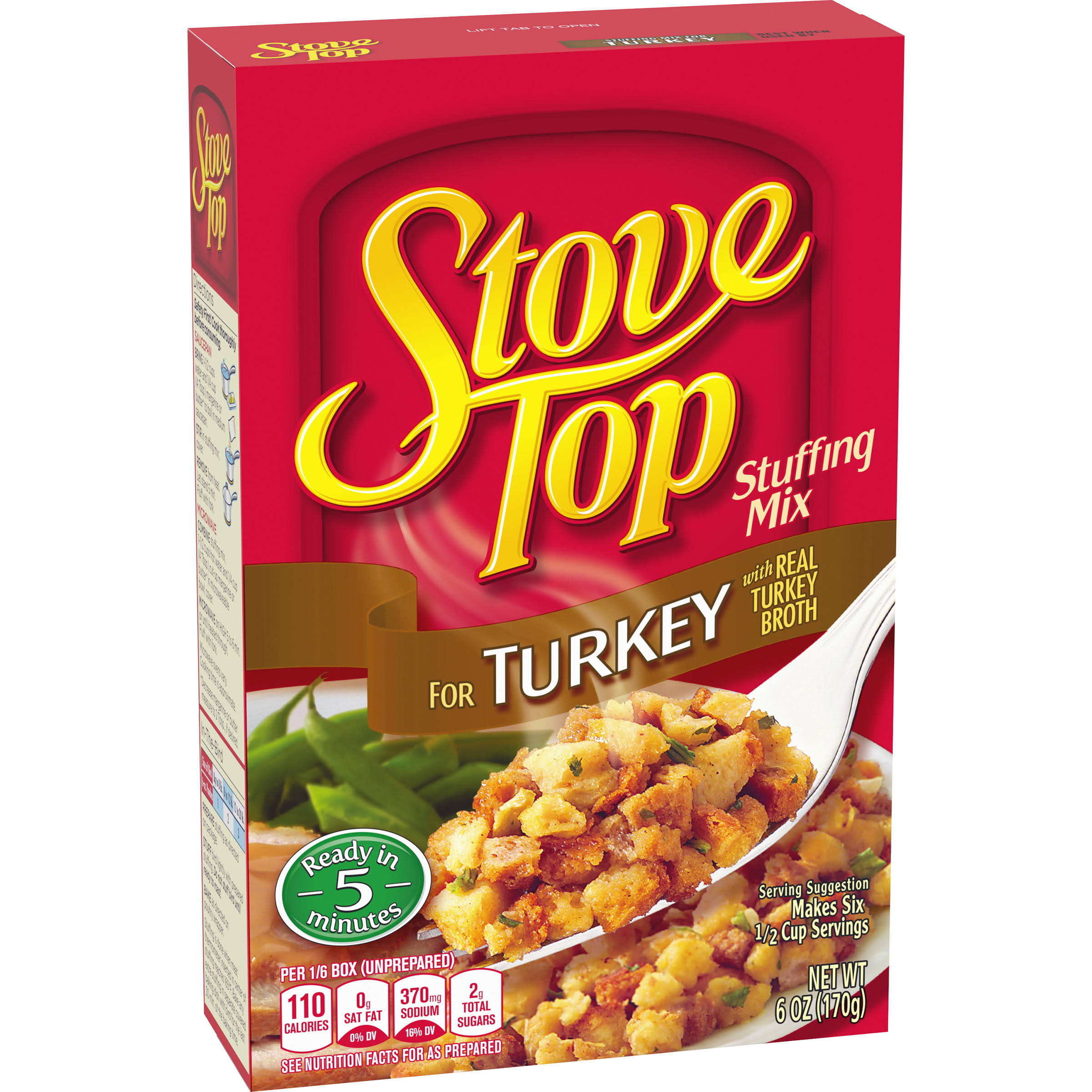 Kraft Stove Top Stuffing Mix - Turkey, 6oz, 3 Pack