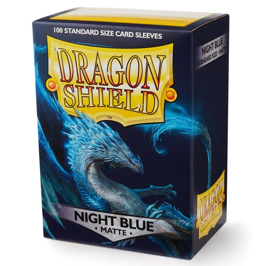 Dragon Shield Standard Sleeves - Matte Night Blue, 100ct