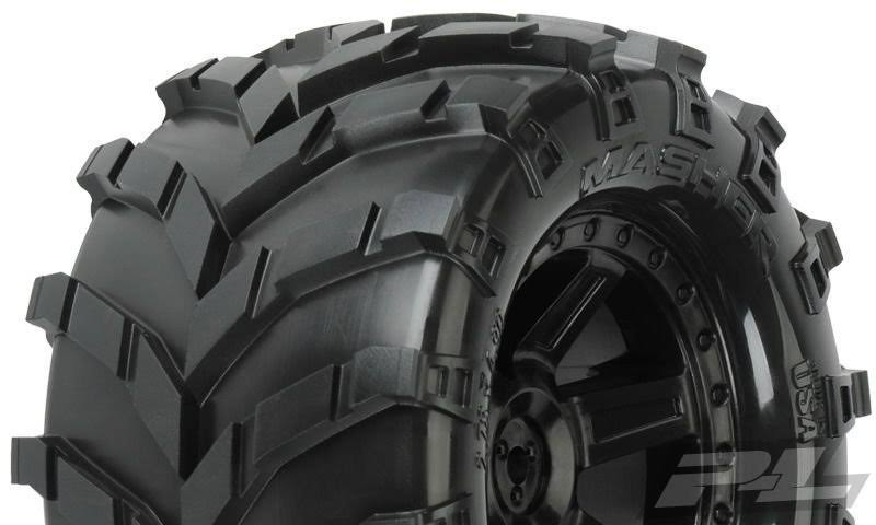 "Pro-Line Masher All Terrain Tires - 2.8"", Mounted Black"