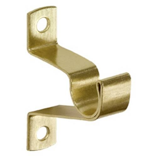 Kenney Allison Brass Curtain Rod Bracket