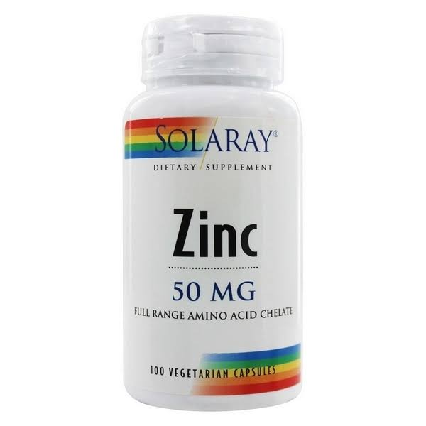 Solaray Dietary Supplement Zinc 50 MG