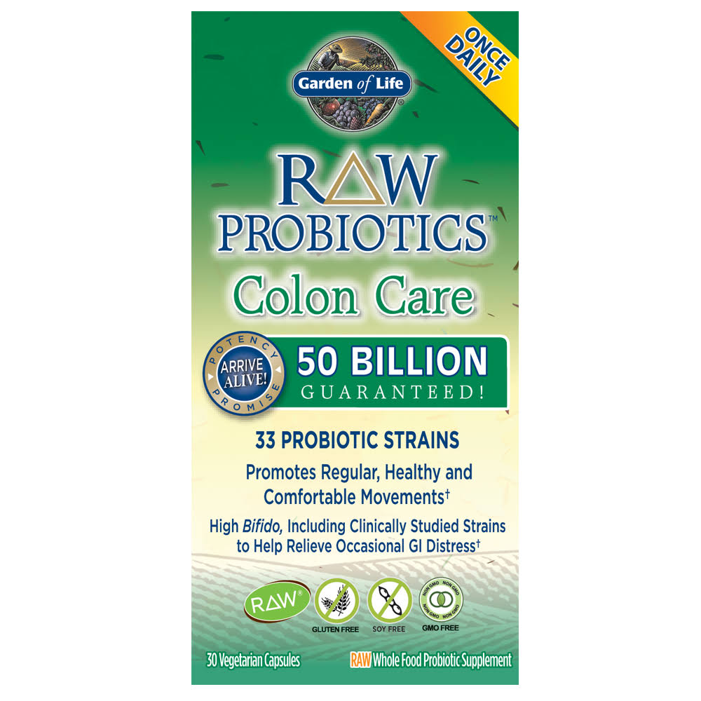 Garden of Life Raw Probiotics Colon Care - 30 Capsules