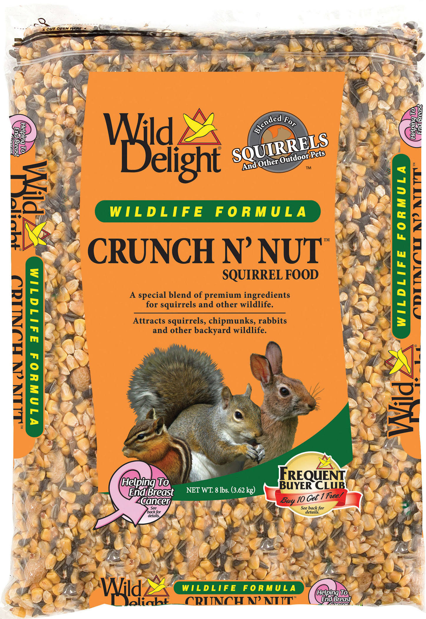 Wild Delight Crunch N Nut Squirrel Food - 8lbs