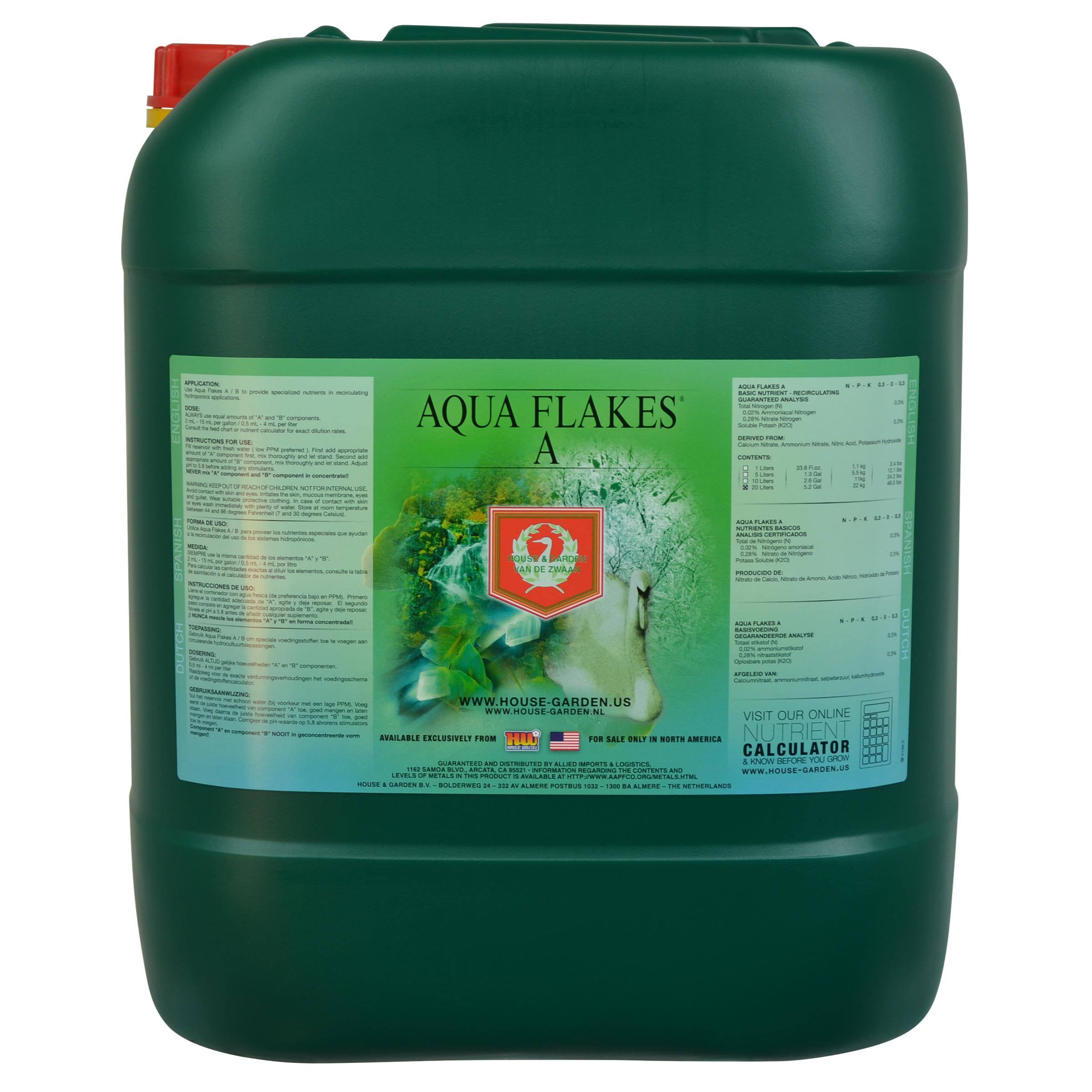 House & Garden Aqua Flakes A - 20 Liters