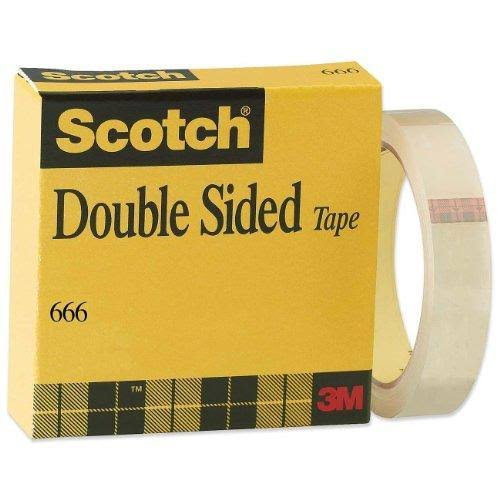 Scotch Double Sided Tape Liner, 0.5 x 36 Yards (666)