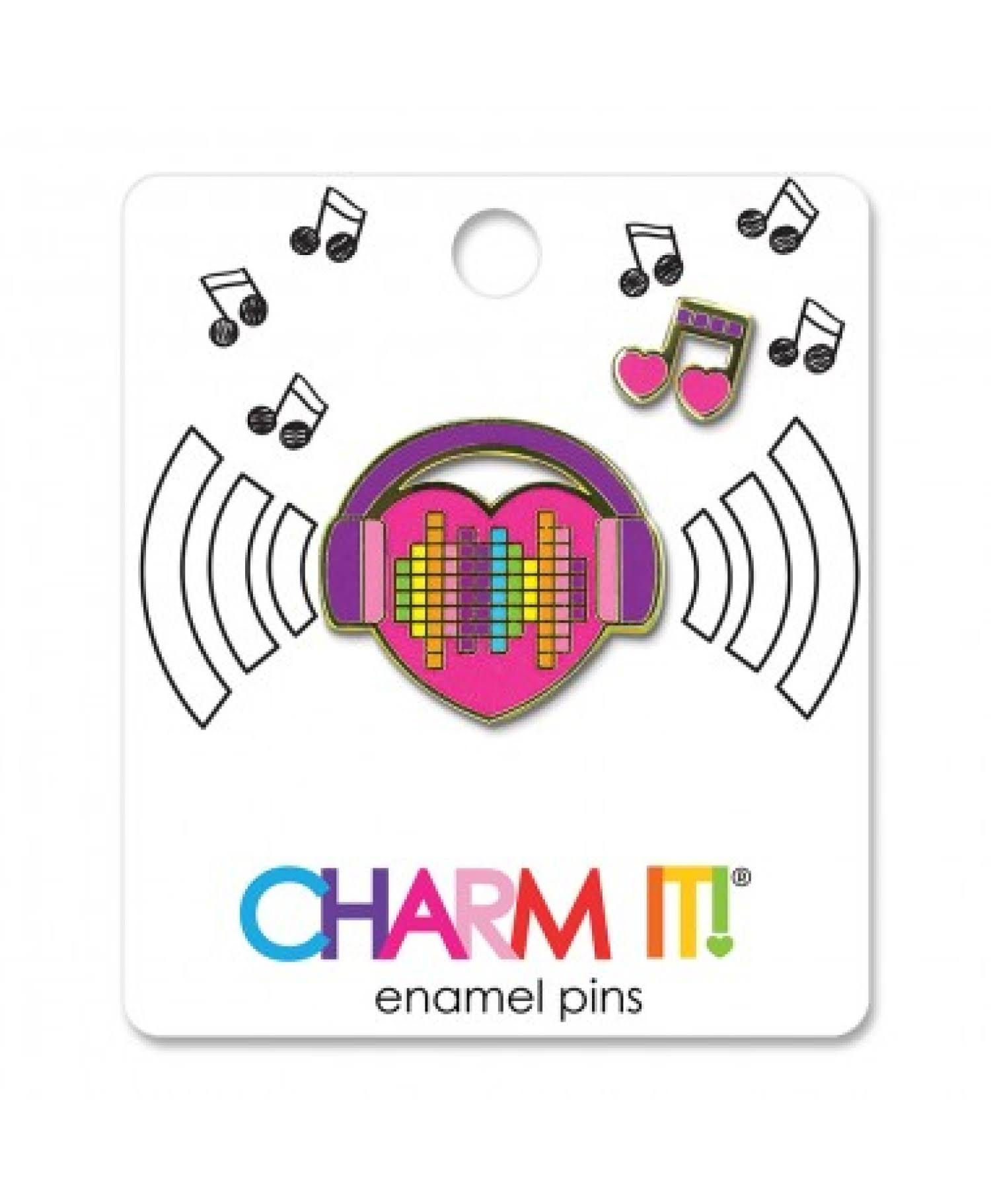 Charm It! Enamel Pin - Music Heart